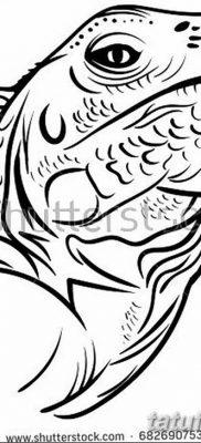 фото тату Игуана от 09.02.2018 №047 – Iguana tattoo – tatufoto.com