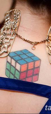 фото тату Кубик Рубика от 24.02.2018 №001 – tattoo Rubik's Cube – tatufoto.com