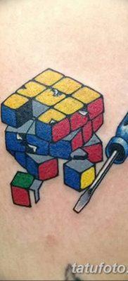 фото тату Кубик Рубика от 24.02.2018 №004 – tattoo Rubik's Cube – tatufoto.com