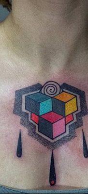 фото тату Кубик Рубика от 24.02.2018 №006 – tattoo Rubik's Cube – tatufoto.com