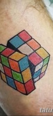 фото тату Кубик Рубика от 24.02.2018 №007 – tattoo Rubik's Cube – tatufoto.com