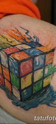 фото тату Кубик Рубика от 24.02.2018 №009 – tattoo Rubik's Cube – tatufoto.com