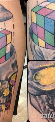 фото тату Кубик Рубика от 24.02.2018 №010 – tattoo Rubik's Cube – tatufoto.com