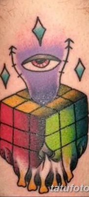 фото тату Кубик Рубика от 24.02.2018 №011 – tattoo Rubik's Cube – tatufoto.com