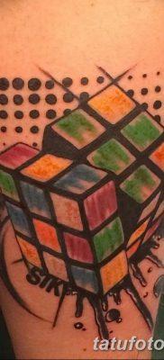 фото тату Кубик Рубика от 24.02.2018 №014 – tattoo Rubik's Cube – tatufoto.com
