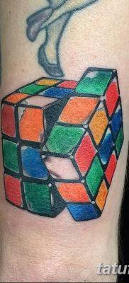 фото тату Кубик Рубика от 24.02.2018 №016 – tattoo Rubik's Cube – tatufoto.com