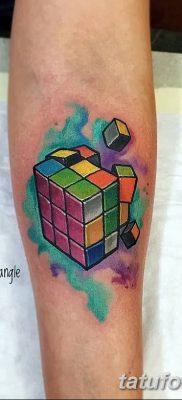 фото тату Кубик Рубика от 24.02.2018 №018 – tattoo Rubik's Cube – tatufoto.com