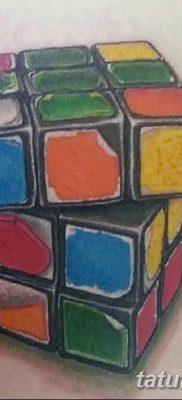 фото тату Кубик Рубика от 24.02.2018 №019 – tattoo Rubik's Cube – tatufoto.com