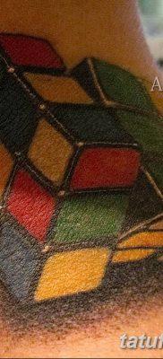 фото тату Кубик Рубика от 24.02.2018 №020 – tattoo Rubik's Cube – tatufoto.com