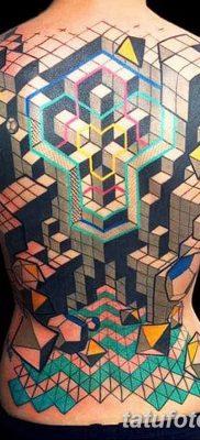 фото тату Кубик Рубика от 24.02.2018 №026 – tattoo Rubik's Cube – tatufoto.com