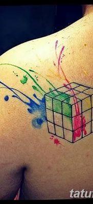 фото тату Кубик Рубика от 24.02.2018 №027 – tattoo Rubik's Cube – tatufoto.com
