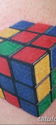 фото тату Кубик Рубика от 24.02.2018 №028 – tattoo Rubik's Cube – tatufoto.com