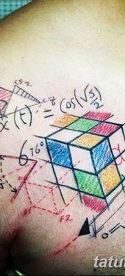 фото тату Кубик Рубика от 24.02.2018 №029 – tattoo Rubik's Cube – tatufoto.com