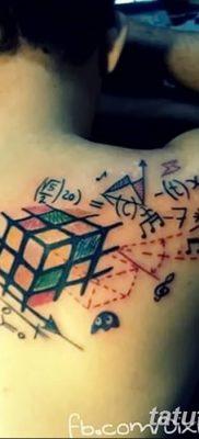фото тату Кубик Рубика от 24.02.2018 №031 – tattoo Rubik's Cube – tatufoto.com