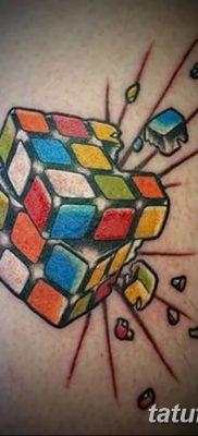 фото тату Кубик Рубика от 24.02.2018 №032 – tattoo Rubik's Cube – tatufoto.com