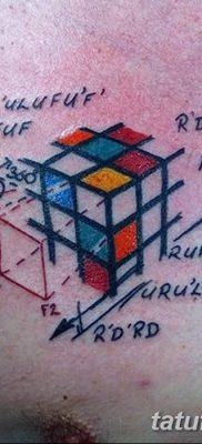 фото тату Кубик Рубика от 24.02.2018 №034 – tattoo Rubik's Cube – tatufoto.com