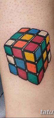 фото тату Кубик Рубика от 24.02.2018 №040 – tattoo Rubik's Cube – tatufoto.com