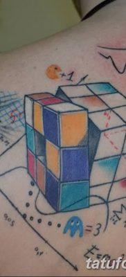 фото тату Кубик Рубика от 24.02.2018 №041 – tattoo Rubik's Cube – tatufoto.com
