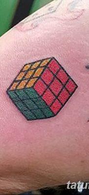 фото тату Кубик Рубика от 24.02.2018 №043 – tattoo Rubik's Cube – tatufoto.com