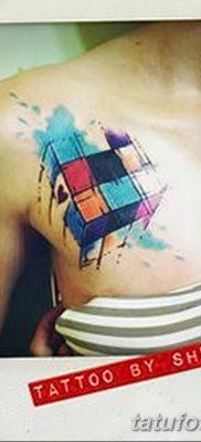 фото тату Кубик Рубика от 24.02.2018 №045 – tattoo Rubik's Cube – tatufoto.com