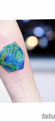 фото тату Кубик Рубика от 24.02.2018 №047 – tattoo Rubik's Cube – tatufoto.com