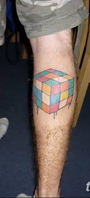 фото тату Кубик Рубика от 24.02.2018 №049 – tattoo Rubik's Cube – tatufoto.com