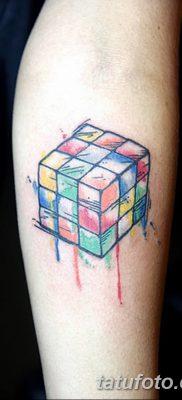 фото тату Кубик Рубика от 24.02.2018 №052 – tattoo Rubik's Cube – tatufoto.com