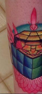 фото тату Кубик Рубика от 24.02.2018 №053 – tattoo Rubik's Cube – tatufoto.com