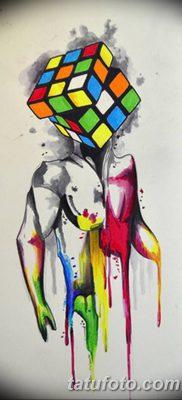 фото тату Кубик Рубика от 24.02.2018 №054 – tattoo Rubik's Cube – tatufoto.com
