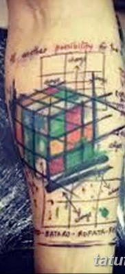 фото тату Кубик Рубика от 24.02.2018 №057 – tattoo Rubik's Cube – tatufoto.com