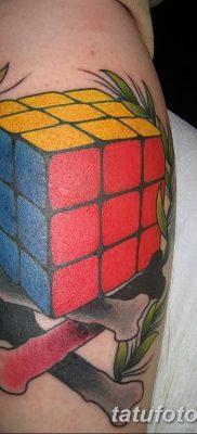 фото тату Кубик Рубика от 24.02.2018 №058 – tattoo Rubik's Cube – tatufoto.com