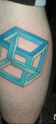 фото тату Кубик Рубика от 24.02.2018 №059 – tattoo Rubik's Cube – tatufoto.com