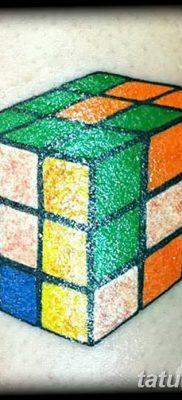 фото тату Кубик Рубика от 24.02.2018 №060 – tattoo Rubik's Cube – tatufoto.com