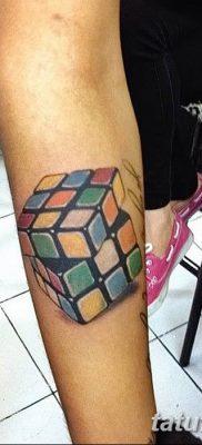 фото тату Кубик Рубика от 24.02.2018 №062 – tattoo Rubik's Cube – tatufoto.com