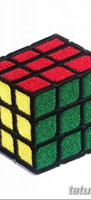фото тату Кубик Рубика от 24.02.2018 №064 – tattoo Rubik's Cube – tatufoto.com
