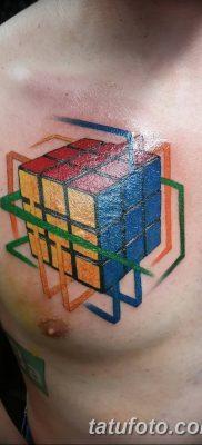 фото тату Кубик Рубика от 24.02.2018 №067 – tattoo Rubik's Cube – tatufoto.com