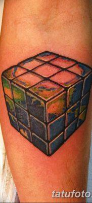 фото тату Кубик Рубика от 24.02.2018 №069 – tattoo Rubik's Cube – tatufoto.com