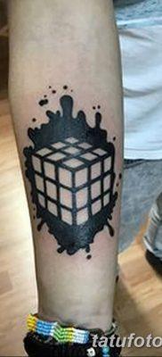 фото тату Кубик Рубика от 24.02.2018 №070 – tattoo Rubik's Cube – tatufoto.com