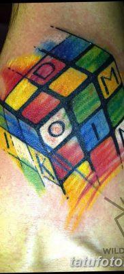фото тату Кубик Рубика от 24.02.2018 №071 – tattoo Rubik's Cube – tatufoto.com