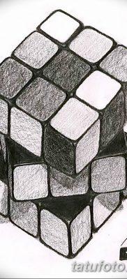 фото тату Кубик Рубика от 24.02.2018 №072 – tattoo Rubik's Cube – tatufoto.com