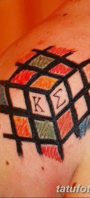 фото тату Кубик Рубика от 24.02.2018 №074 – tattoo Rubik's Cube – tatufoto.com