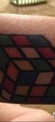 фото тату Кубик Рубика от 24.02.2018 №076 – tattoo Rubik's Cube – tatufoto.com