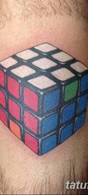 фото тату Кубик Рубика от 24.02.2018 №080 – tattoo Rubik's Cube – tatufoto.com
