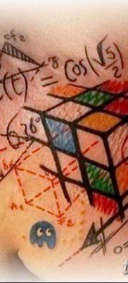 фото тату Кубик Рубика от 24.02.2018 №081 – tattoo Rubik's Cube – tatufoto.com