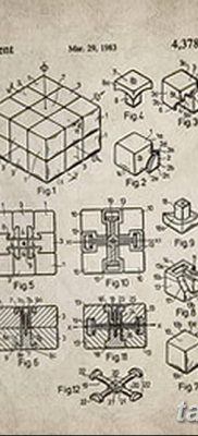 фото тату Кубик Рубика от 24.02.2018 №083 – tattoo Rubik's Cube – tatufoto.com