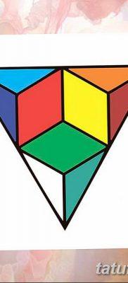 фото тату Кубик Рубика от 24.02.2018 №084 – tattoo Rubik's Cube – tatufoto.com
