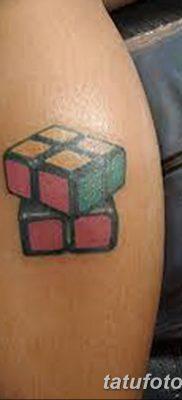 фото тату Кубик Рубика от 24.02.2018 №085 – tattoo Rubik's Cube – tatufoto.com