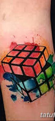 фото тату Кубик Рубика от 24.02.2018 №087 – tattoo Rubik's Cube – tatufoto.com