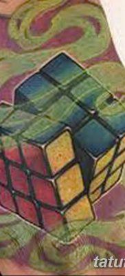 фото тату Кубик Рубика от 24.02.2018 №088 – tattoo Rubik's Cube – tatufoto.com