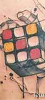 фото тату Кубик Рубика от 24.02.2018 №089 – tattoo Rubik's Cube – tatufoto.com